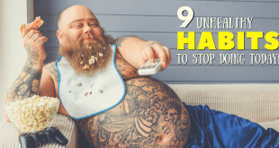 9 unhealthy habits to stop doing today