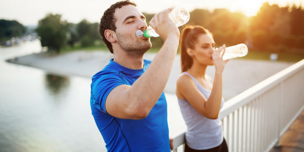 Start drinking 2 to 3 liters of water per day